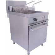 Falcon Chieftain E1838: Single Tank Electric Freestanding Commercial Fryer with Twin Baskets - 39Ltr