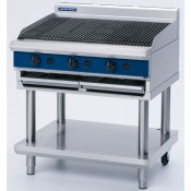 Blue Seal G596-LS: BLUE SEAL Evolution 900mm Gas Chargrill on leg stand base