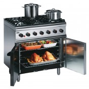 Lincat SLR9/N F047-N: Silverlink 600 Natural Gas Oven with 6 Hobs top