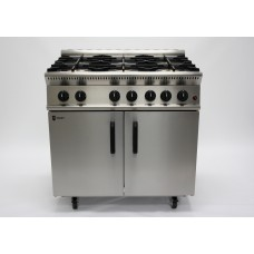 Parry GB6: Natural Gas 6 Burner Range Oven