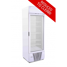 VF500: 470ltr Glass Door Display Freezer - Adjustable Shelves | REDUCED TO CLEAR