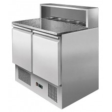 Ice-A-Cool ICE3831: 2 Door Pizza Preparation Counter with Marble Top Section - OFFER PRICE!
