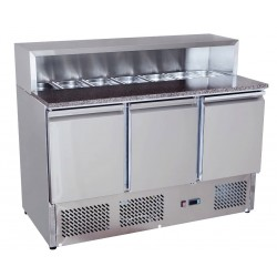 Ice-A-Cool ICE3854: 1/6GN Refrigerated Pizza / Sandwich Counter