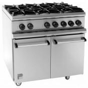 Parry P6BO: Natural Gas 6 Burner Range Oven