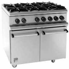 Parry P6BO: Natural Gas 6 Burner Range Oven
