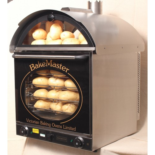 Bakemaster Convection Oven Twin Fan Potato Oven Stainless