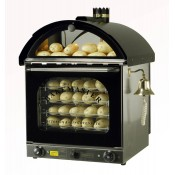 Bakemaster Convection Oven: Twin Fan Potato Oven Black
