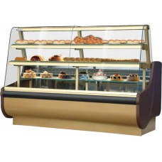 Igloo Beta 100: 1m Patisserie Display Counter in Gold Finish
