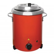 Buffalo GH227: Red Soup Kettle with Handles 5.7Ltr