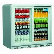 Coolpoint CX250: 192 Litre Double Sliding Door Beer Fridge - Silver Grey - Special Offer Price