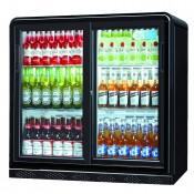 Coolpoint CX251: 192 Litre Double Sliding Door Beer Fridge - Black - Special Offer Price