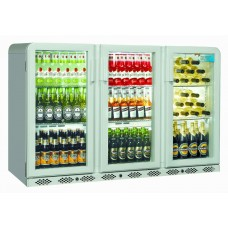 Coolpoint CX300: 300 Litre Treble Hinged Door Beer Fridge - Silver Grey - Special Offer Price