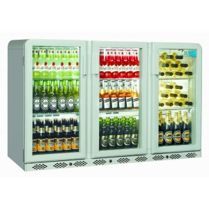 Coolpoint CX300: 300 Litre Treble Hinged Door Beer Fridge - Silver Grey - Special Offer Price
