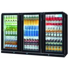 Coolpoint CX301: 300 Litre Treble Hinged Door Beer Fridge - Black - Special Offer Price