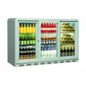 Coolpoint CX350: 300 Litre Treble Sliding Door Beer Fridge - Silver Grey - Special Offer Price