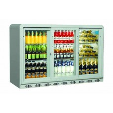 Coolpoint CX350: 300 Litre Treble Sliding Door Beer Fridge - Silver Grey - Special Offer Price