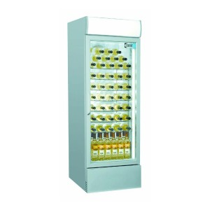 Coolpoint CX406-Wine: Commercial Glass Door Wine Chiller in Silver Finish