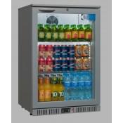Coolpoint HX100: Single door beer fridge in silver grey finish