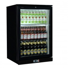 Coolpoint HX101: Single door beer fridge in black finish