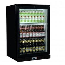 Coolpoint HX101: Single door beer fridge in black finish
