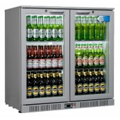 Coolpoint HX200: 192 Litre Double hinged door beer Fridge - Silver Grey