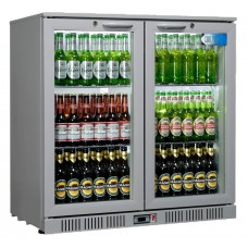 Coolpoint HX200: 192 Litre Double hinged door beer Fridge - Silver Grey