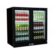 Coolpoint HX201: 192 Litre Double hinged door beer Fridge - Black