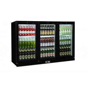 Coolpoint HX301: 300 Litre Treble Hinged Door Beer Fridge - Black