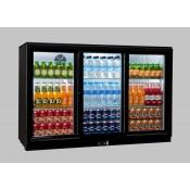 Coolpoint HX351: 300 Litre Treble Sliding Door Beer Fridge - Black