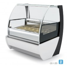 Igloo Kameleo Ice JA101KM: 1.4m Ventilated Soft Scoop Ice Cream Display - 10 Pans