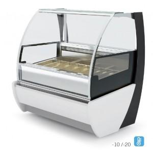 Igloo Kameleo Ice JA101KM: 1.4m Ventilated Soft Scoop Ice Cream Display - 10 Pans
