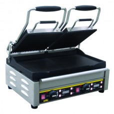 Buffalo L554: Double Contact Grill - Ribbed Top Plate
