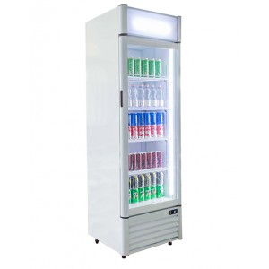 Blizzard QR350: Glass door fridge