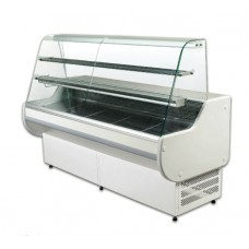 ES System K Astrella AST200SL: 2m Slimline Static Serve Over Counter with 2 Tiers