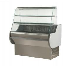 ES System K Astrella AST170SL/SS: 1.7m Slimline Static Serve Over Counter with 2 Tiers - Stainless Steel