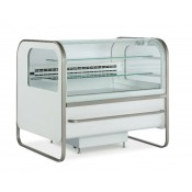 ES System K Catania CAT/125PA: 1.35m Fan Assisted Spherical Glass Patisserie Display Counter