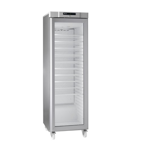 Stainless Steel And Glass Kitchen Cabinet Doors: Gram COMPACT KG 410 RG C 10WV: Slim Glass Door Wine