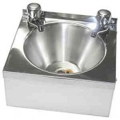Inomak WHB: Steel Hand Wash Sink Complete With Taps