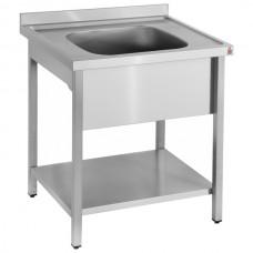 Inomak LA571C: 0.75Mtr Single Bowl Sink on Legs