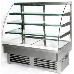 Igloo Jamaica JA130W: 1.3m Refrigerated Stainless Steel Pastry Case