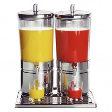 APS CF066: Double Juice Dispenser - 2 x 6Ltr