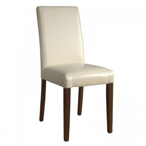 a1f5cfb0c12 Bolero GH444  Faux Leather Dining Chairs Cream (Pack of 2)