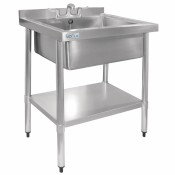 Vogue GJ537: Stainless Steel Midi Sink (Taps are sold separately. Product code for the taps : Y770)