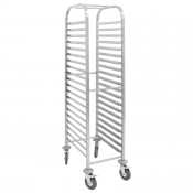 Vogue U376:  Stainless Steel Gastronorm Racking Trolley