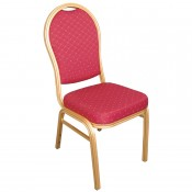 Bolero U525: Aluminium Arched Back Banquet Chairs (Pack of 4)