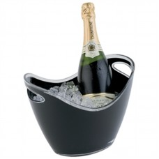 APS CF312: Wine Bucket Black 2 Bottle