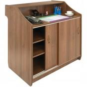 CF707 Deluxe Reception Counter 1500mm Walnut