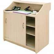 CF709 Deluxe Reception Counter 1500mm Maple