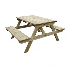 Rowlinson CG094: 4 Seater Wooden Picnic Bench 4ft