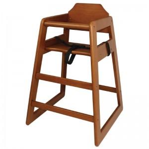 Bolero DL901: Wooden Highchair Dark Wood Finish